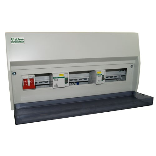 Fuse Box With Rcd : Crabtree starbreaker w dual rcd consumer unit with mcbs