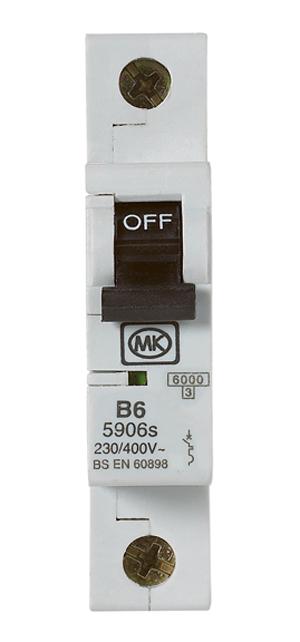 MK Sentry SP MCB 6KA TYPE B 6A