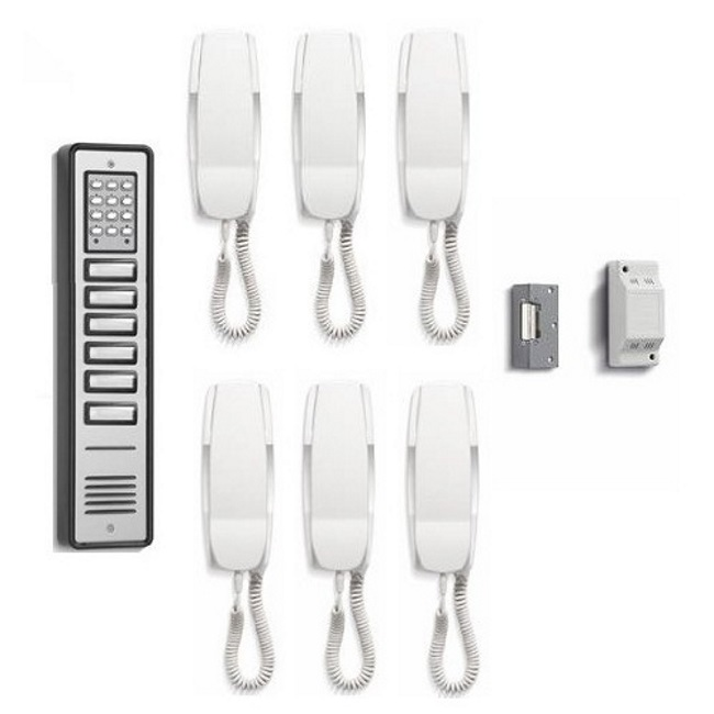 Bell System CS106-6 6 Way Coded Door Entry Kit Surface