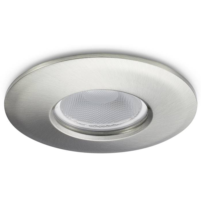 JCC FGLED10 Fire Rated Dimmable Downlight Brushed Nickel WW