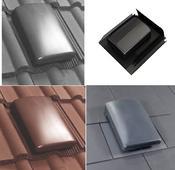 Verplas Tile / Slate Roof Ventilator & Adaptor Kit 150mm Dia C/W Connector