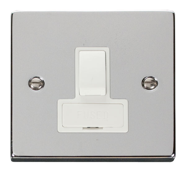 Click Deco 13A Fused Switched Connection Unit White Victorian Pol Chrome