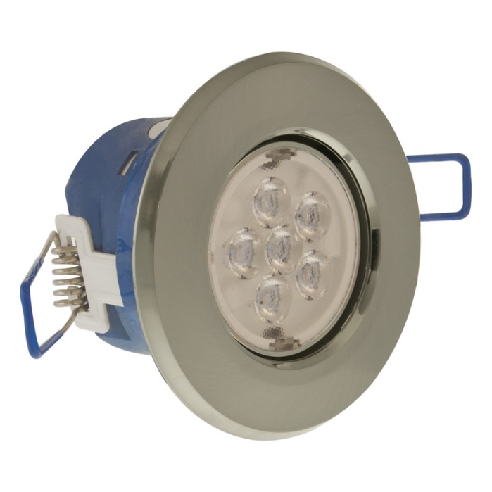 Click Inceptor Micro Satin Chrome 7W Downlight WW