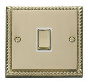 Click Deco 20A 1 Gang DP Ingot Switch White Georgian Cast Brass