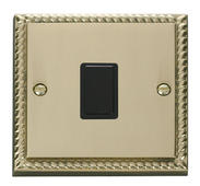 Click Deco 20A 1 Gang DP Switch Black Georgian Cast Brass
