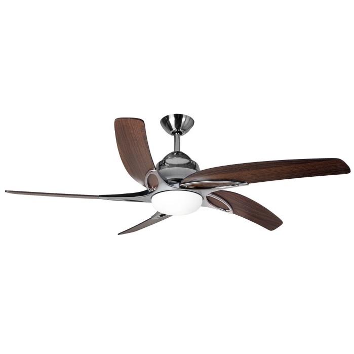 Fantasia Viper Plus Ceiling Fan 44in Ss Dark Oak Remote Reverse