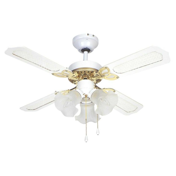 fantasia global rio ceiling fan light 36in white. Black Bedroom Furniture Sets. Home Design Ideas