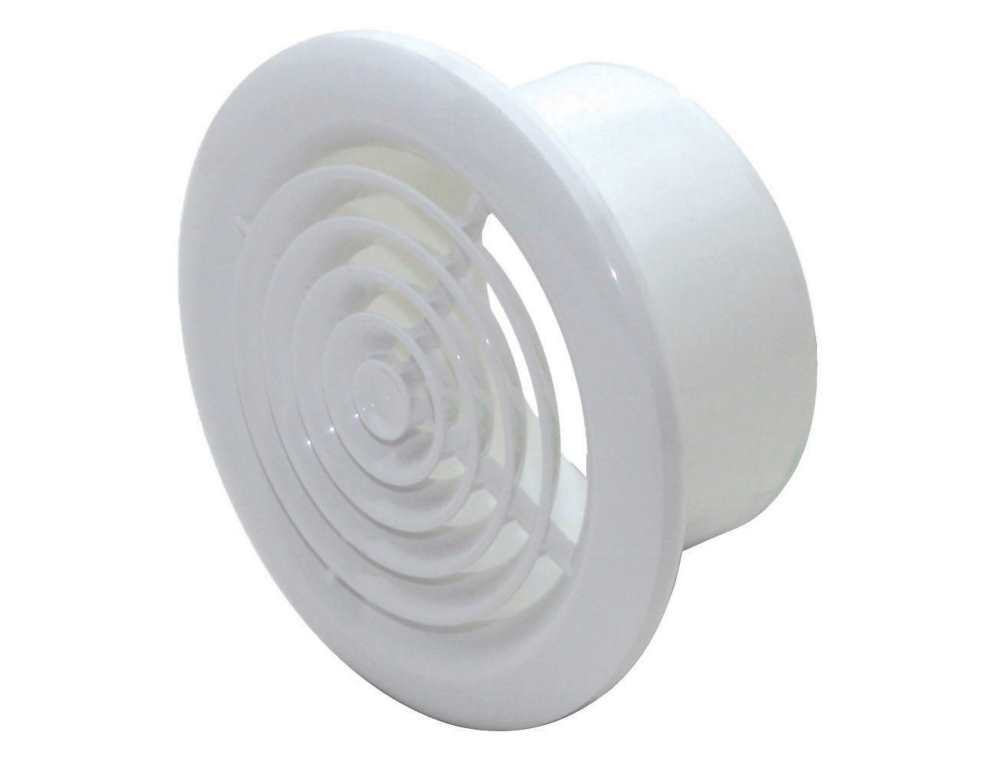 100mm Round Ceiling Diffuser White Plastic Grilles