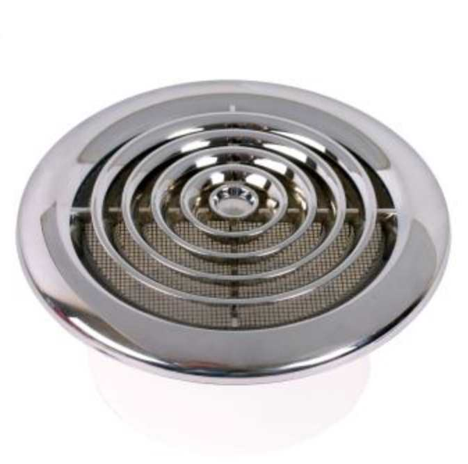 100mm round ceiling diffuser chrome finish