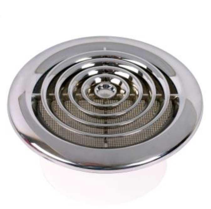 High Resolution Quality Ceiling Fans 5 Chrome Ceiling Fan: 100mm Round Ceiling Diffuser, Chrome Finish