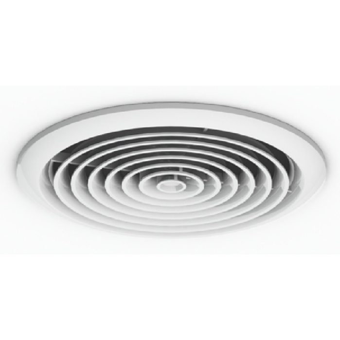 125mm round ceiling diffuser white