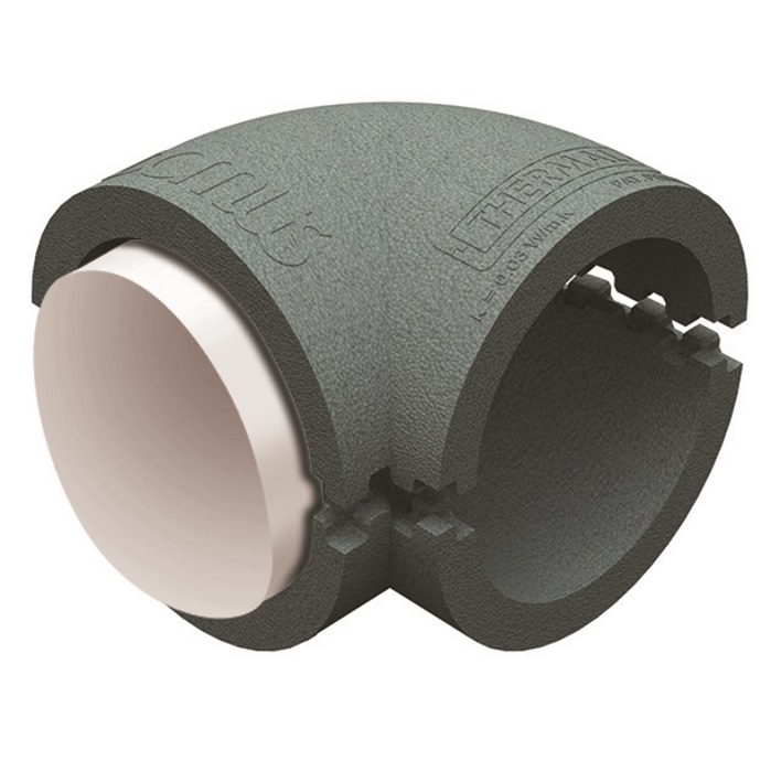 Domus Radial Insulated 90 Degree Bend 125mm