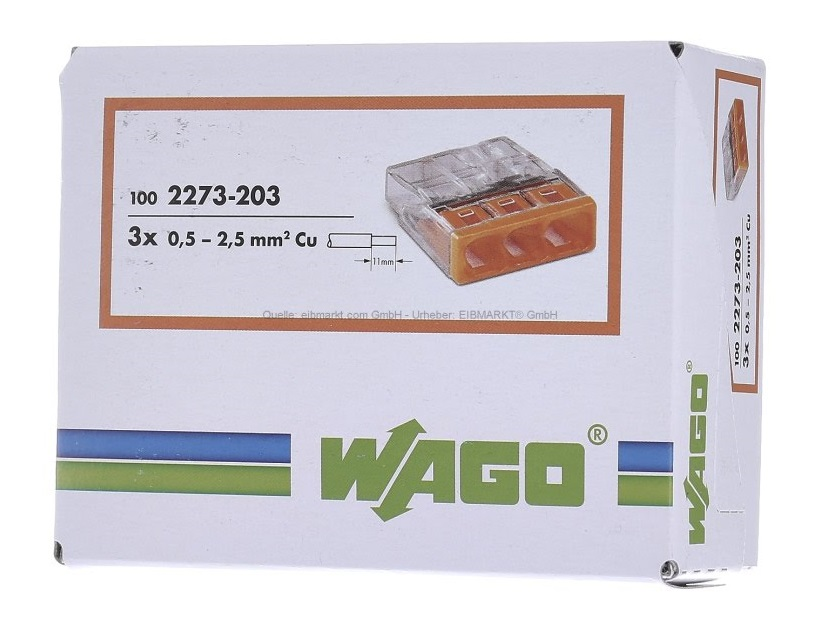 Gut gemocht Wago 2273-203 Compact Push Wire Connectors for Junction Boxes 3 UG24