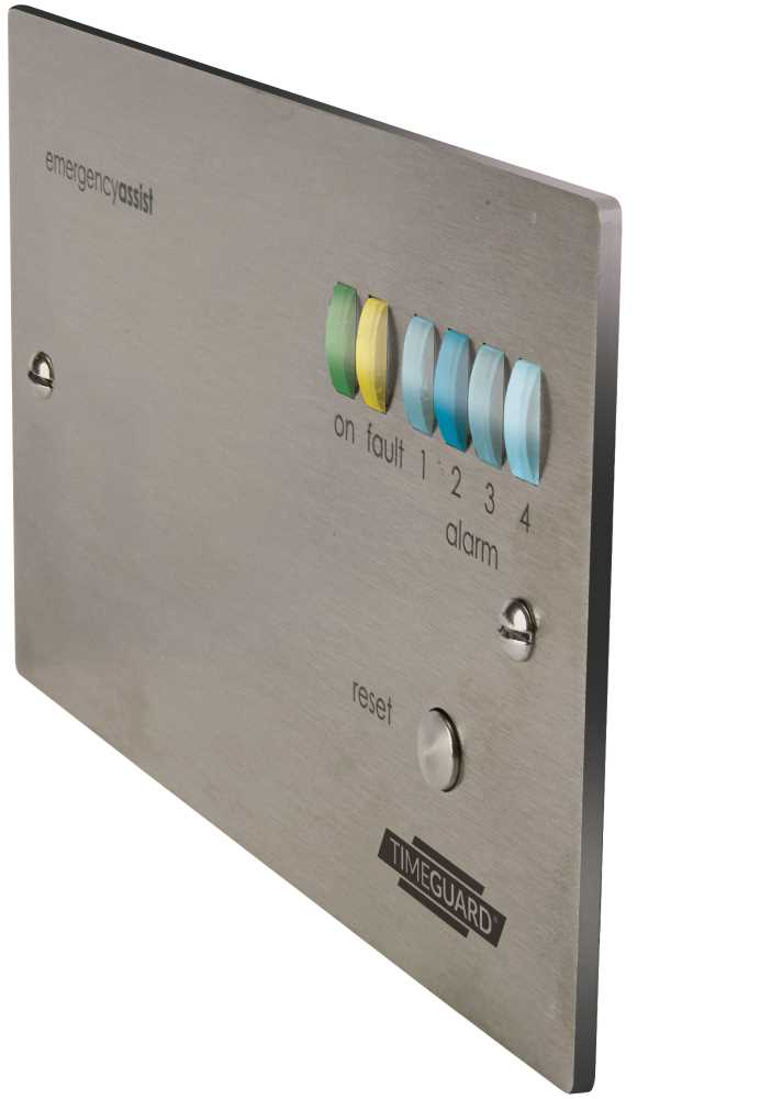 Timeguard  EASSCP4PR 4 Zone (Stainless) Control Panel with Back-Up