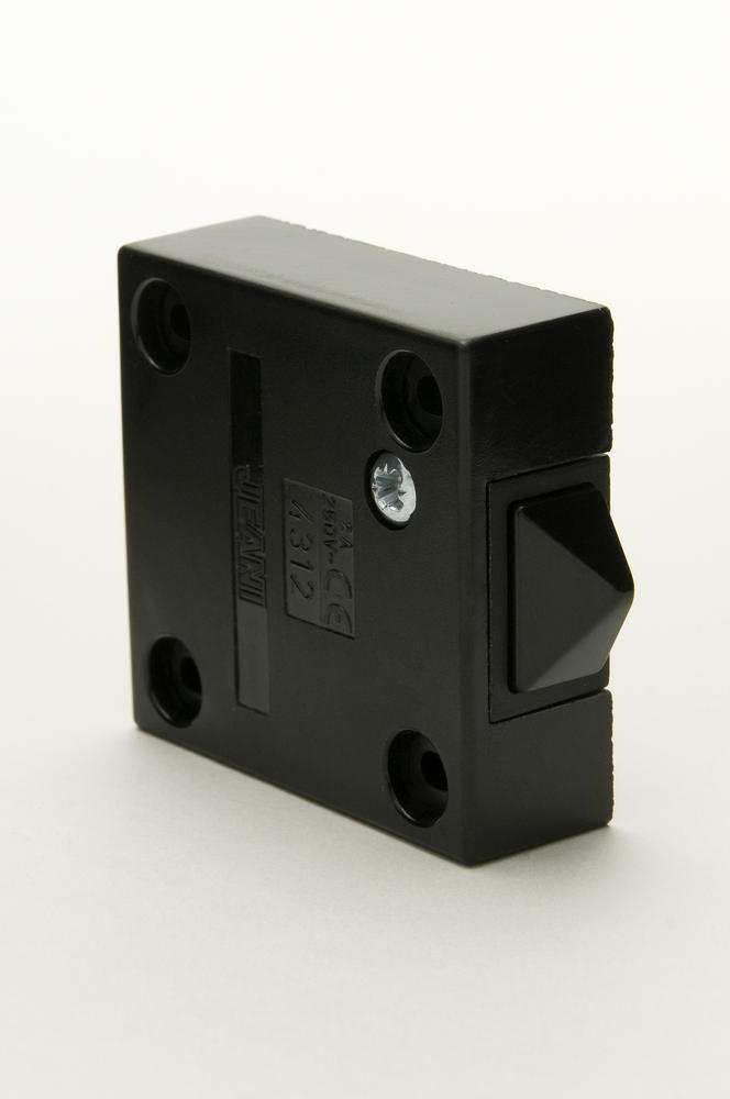 Jeani 143 Door Switch 2A 230V Surface Push to Break Black