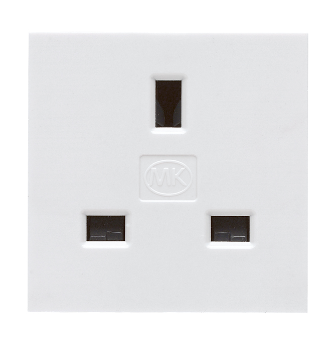 Remarkable Mk K5830Whi Socket 1G Unswitched 13A Wiring Cloud Cosmuggs Outletorg