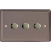 Varilight V-Pro Classic 3 x 300W 2 Way Trailing Edge Dimmer in Pewter