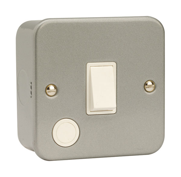 Click 20A DP Switch with Optional Flex Outlet Metal Clad