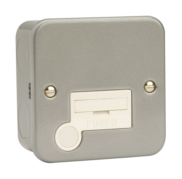 Click 13A Fused Connection Unit with Flex Outlet Metal Clad
