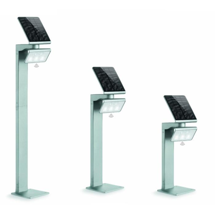 Steinel XSolar GL-S LED PIR Solar Bollard Light Silver 671211