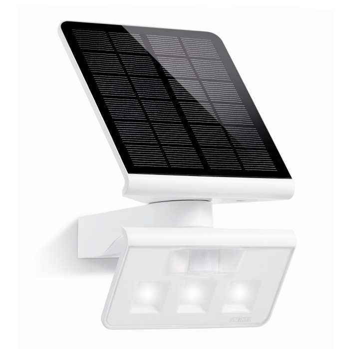 steinel xsolar ls led pir solar wall light white 671006 steinel xsolar lighting. Black Bedroom Furniture Sets. Home Design Ideas