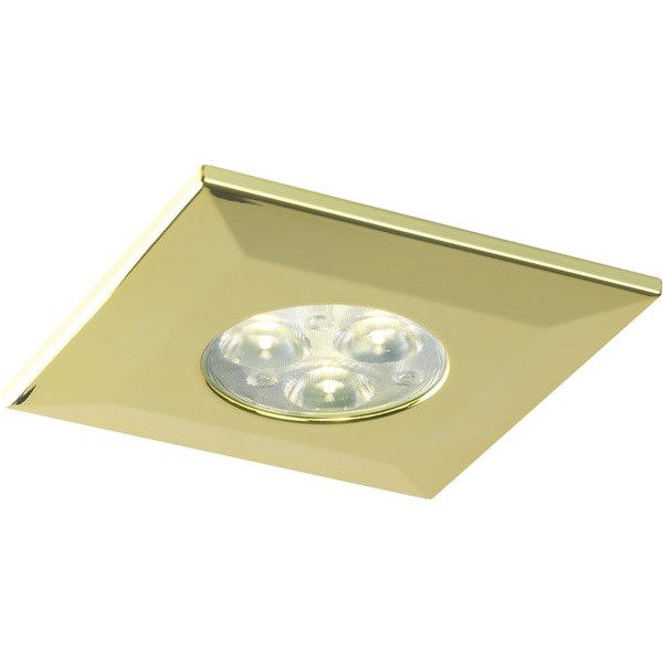 Halers H2 Pro 550/700 LED Downlight Square Polished Gold Bezel