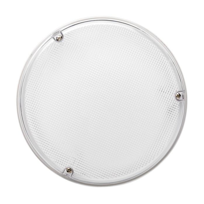 JCC RadiaLED IP65 Emergency Bulkhead 23W LED c/w Microwave Sensor Whi/Pris