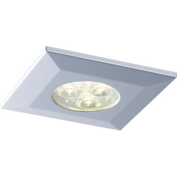 Halers H2 Pro 550/700 LED Downlight Square Silver Bezel