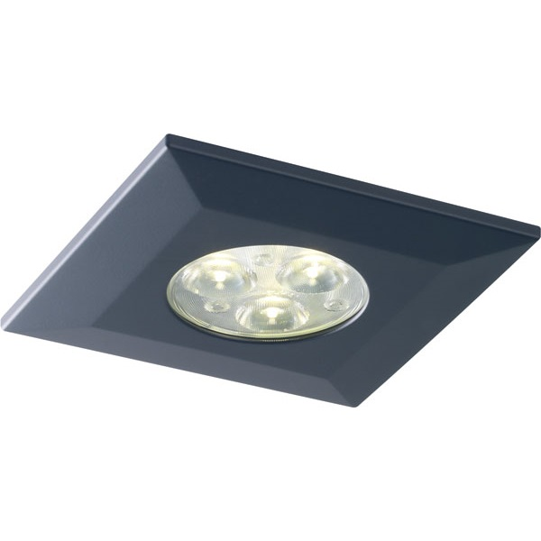 Halers H2 Pro 550/700 LED Downlight Square Matt Black Bezel