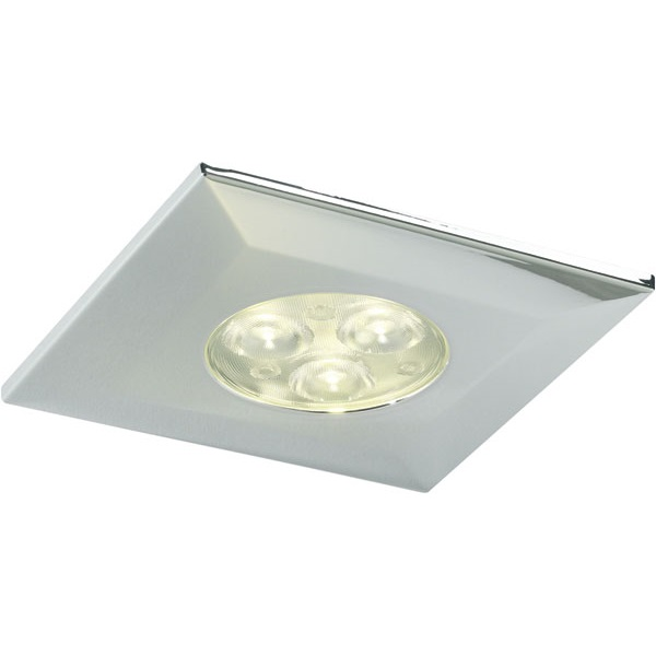 Halers H2 Pro 550/700 LED Downlight Square Chrome Bezel