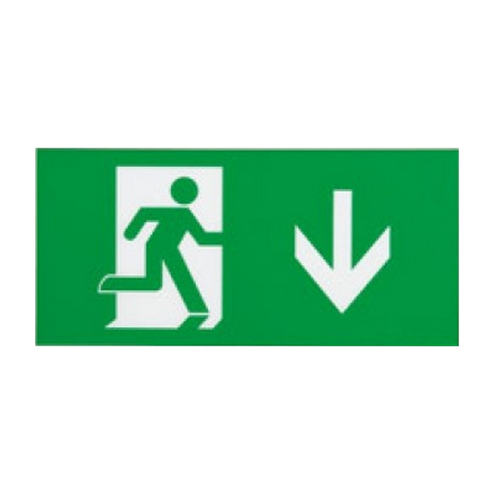 Ansell Eagle 3-in1 LED Exit Sign Arrow Down Legend