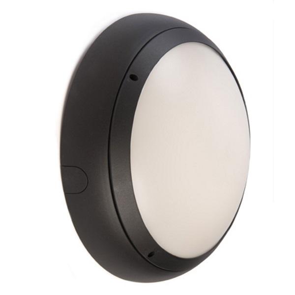 Ansell Vision 3 20w LED  IP65 Graphite Bulkhead Light With MW Sensor