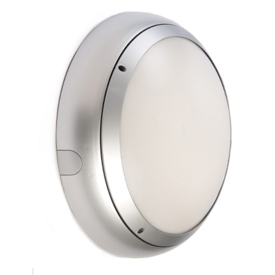 Ansell Vision 3 20w LED  IP65 Silver Emerg Bulkhead & MW Sensor