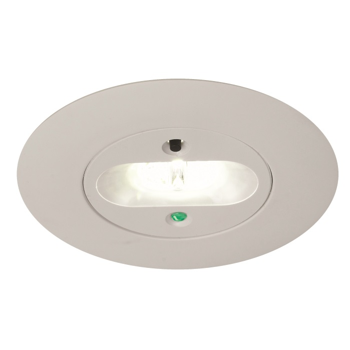 Led Recessed Lighting With Emergency Backup : Ansell merlin led recessed escape route emergency