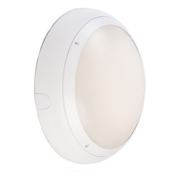 Ansell Vision 3 20w LED  IP65 White Emerg Bulkhead & MW Sensor