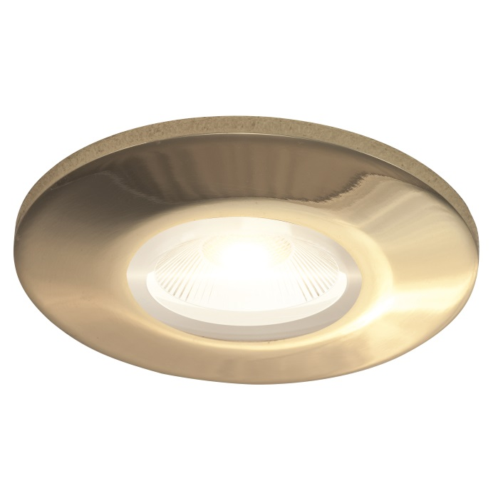 Ansell Orbio 360 IP65 Downlight Bezel Brass Trim