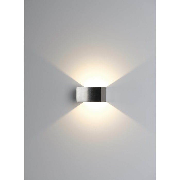 Ansell Facet 4w Satin Chrome LED Wall Light Warm White