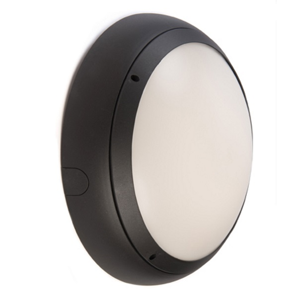 Ansell Vision 3 20w LED  IP65 Graphite Bulkhead Light