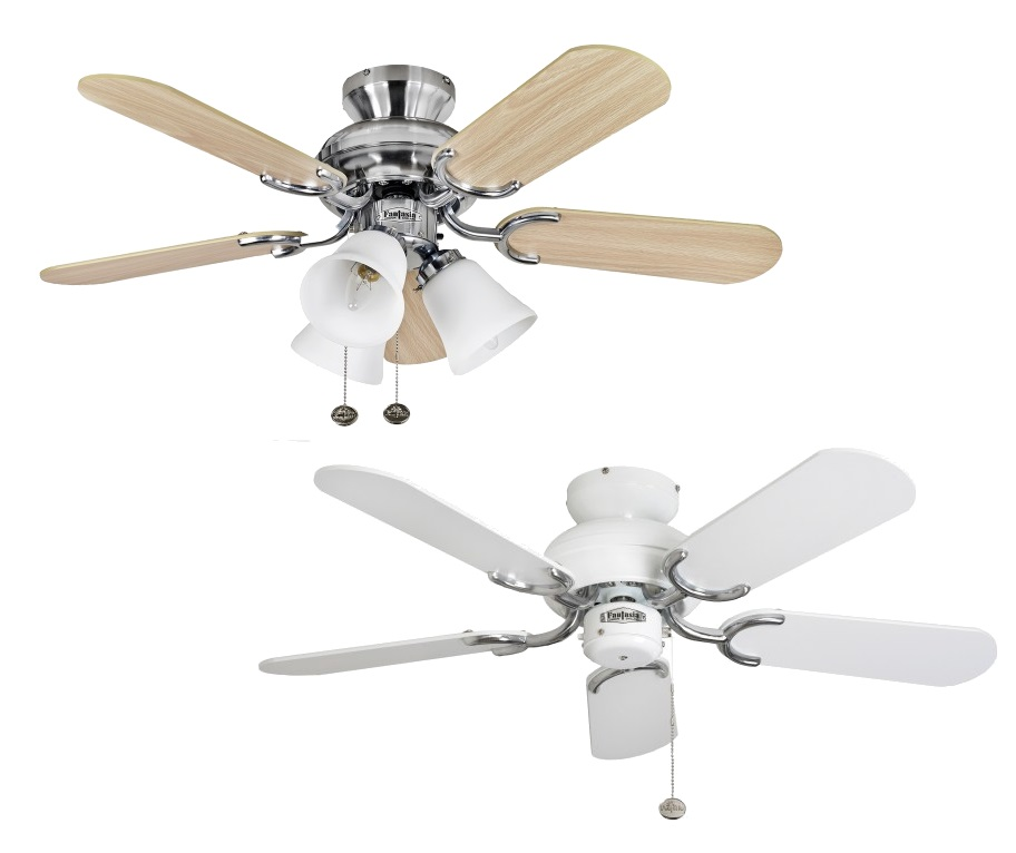 "Cheap Ceiling Fans Review: Fantasia Capri Ceiling Fans 36"" White Stainless Steel"