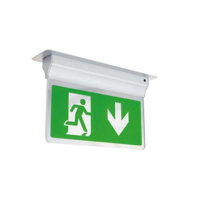 Ansell Eagle 3-in1 LED Emergency Exit Sign Silver