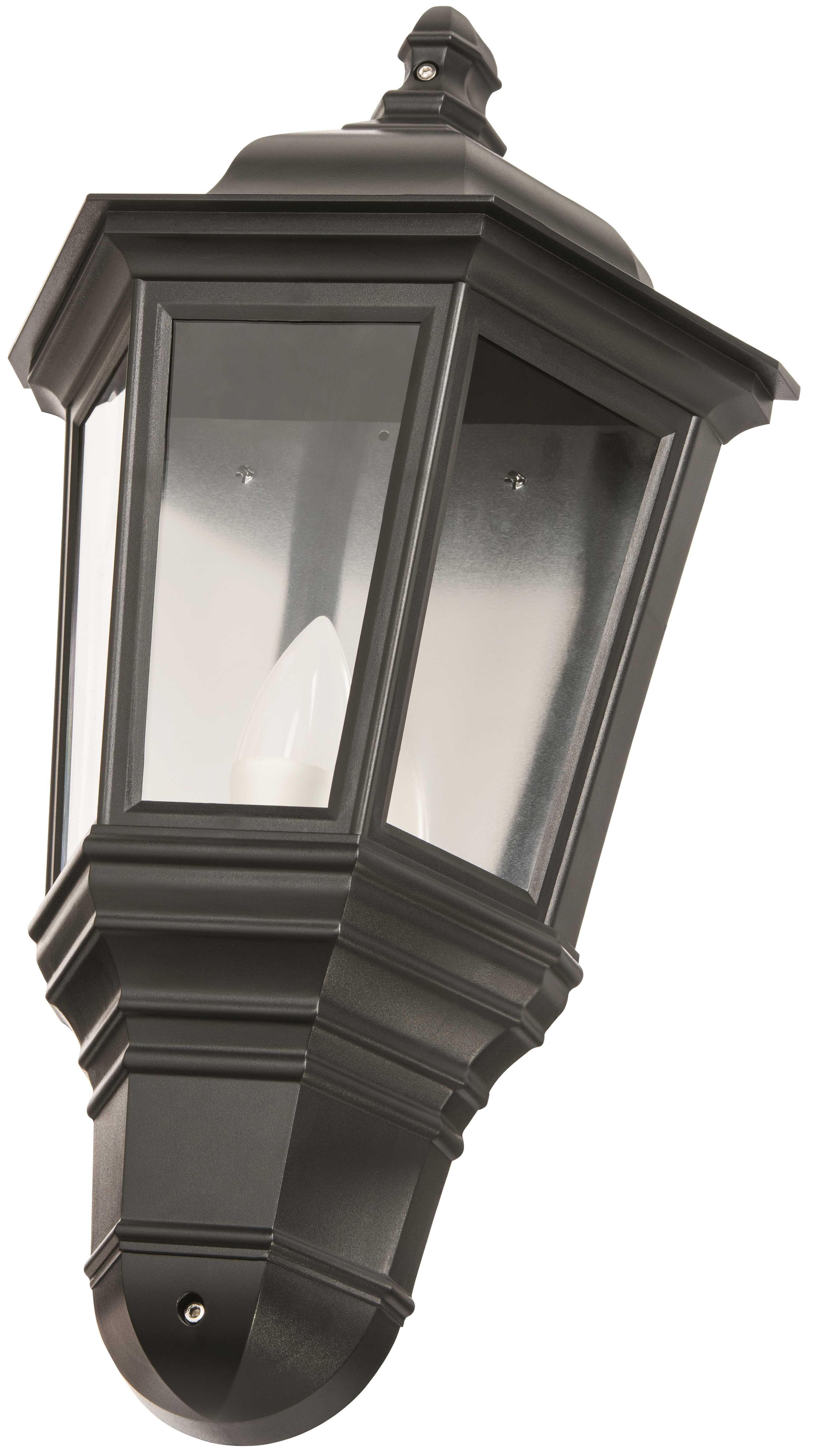 Timeguard CLLEDH42B Black LED Half Carriage Lantern c/w 4w LED Candle Lamp