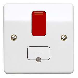 MK 13A DP Switch Connection Unit / Neon K1060 D1 WHI Red Rocker