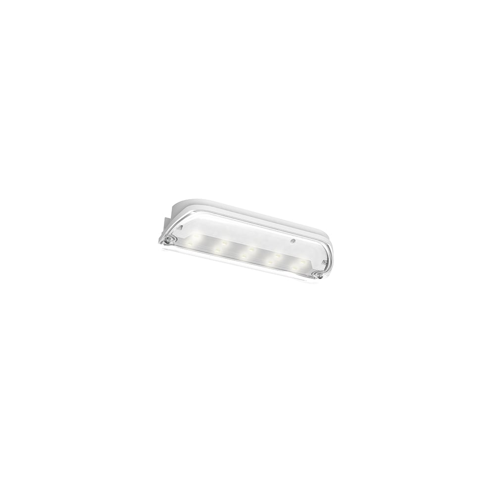 Ansell Swift Emergency 3W LED Bulkhead c/w Legend