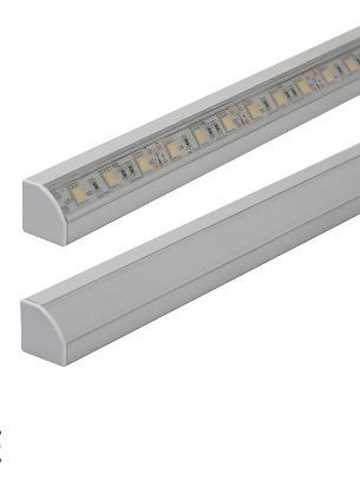ANSELL 2 Metre Angled Aluminium Profile c/w Covers & Fixings