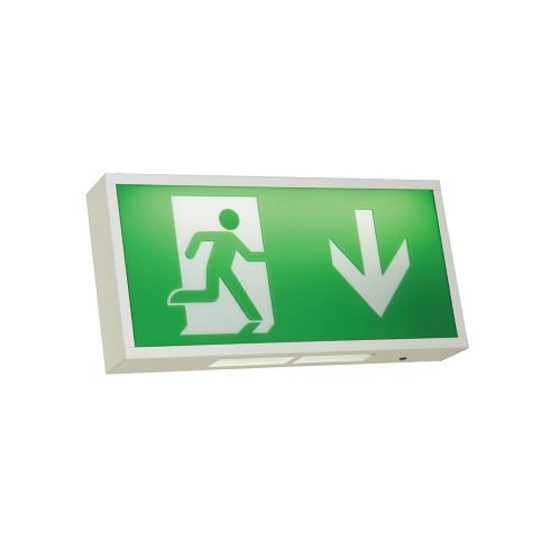 Ansell Watchman 3W LED Exit Box White with Legend
