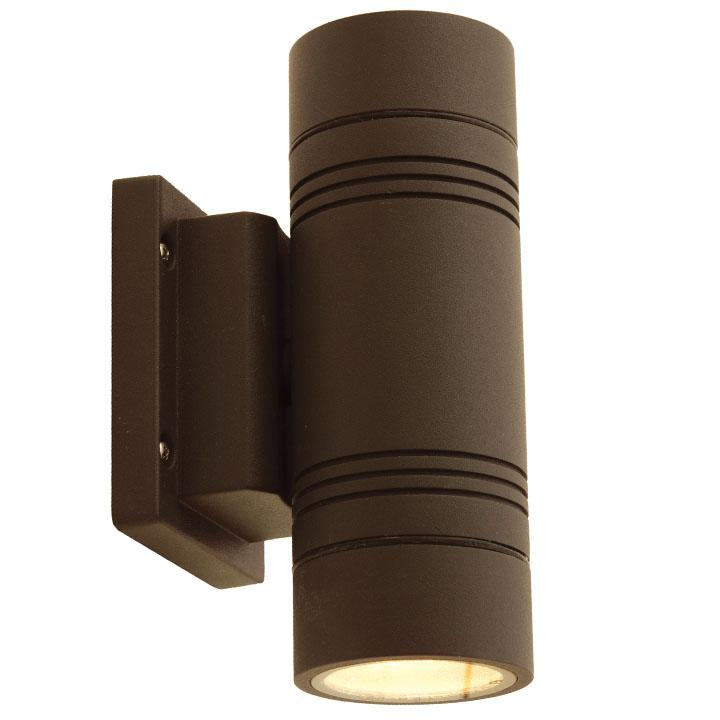 Ansell Tandem 2 x GU10 LED Graphite Bi Directional Wall Light