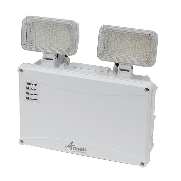 Ansell 5W Owl Twin Spot LED Non-Maintained Self-Test