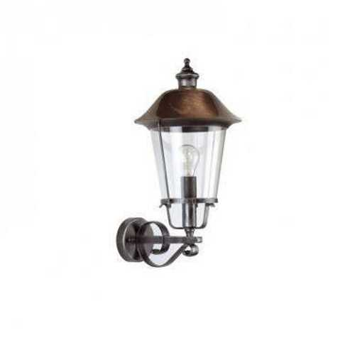 Ansell Augusta E27 Classic Wall Lantern Black Silver/Copper