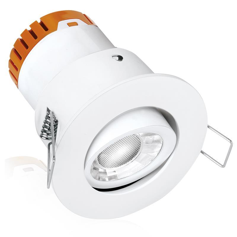 Aurora LED Alum. Adj. 4.5W Fire Dimmable Downlight
