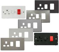 Definity Screwless Flatplate 45A Switch & 13A Switched Sockets